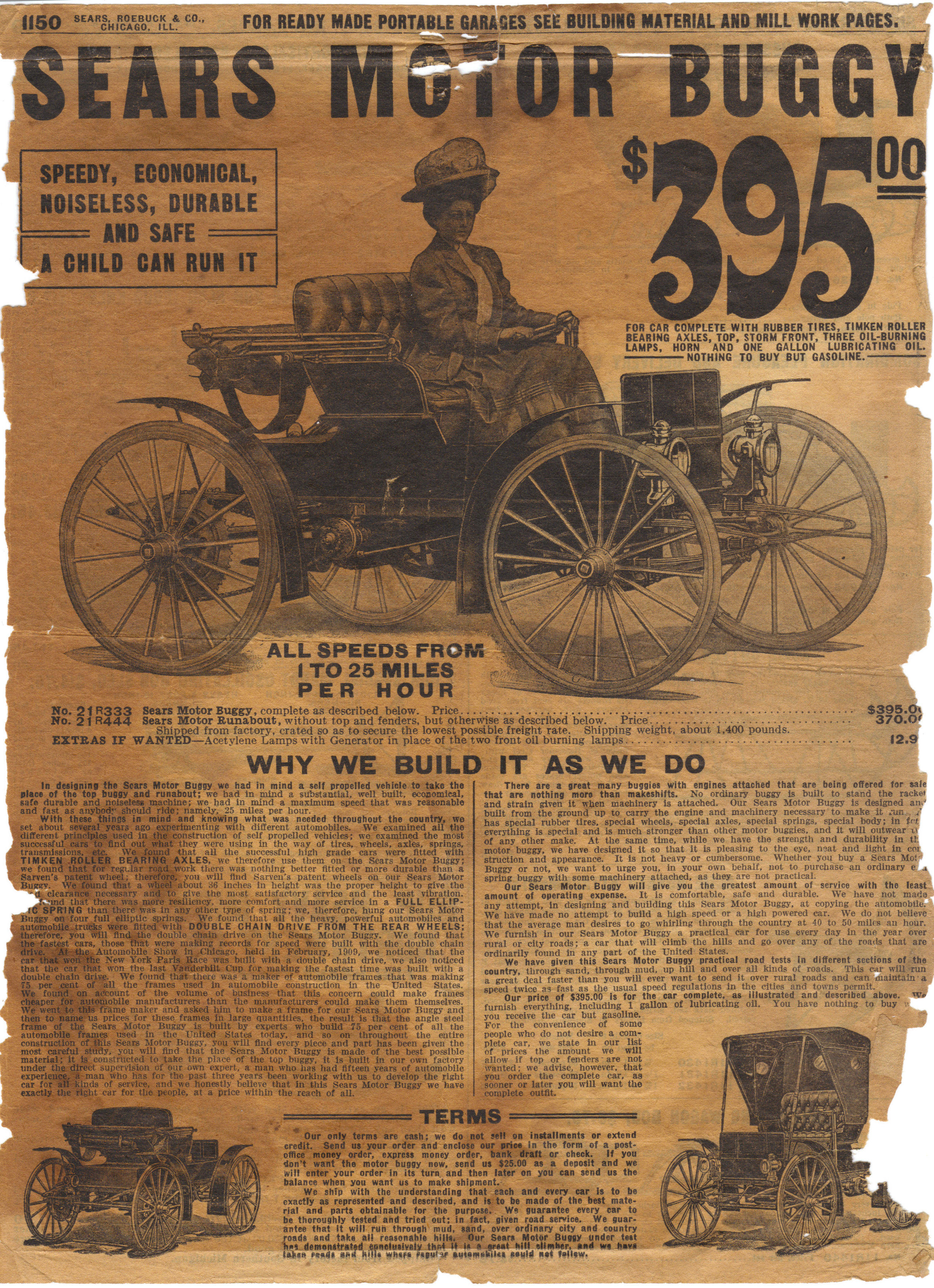 Sears Motor Buggy Homepage - Sears History